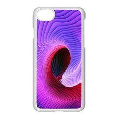Digital Art Spirals Wave Waves Chevron Red Purple Blue Pink Apple Iphone 7 Seamless Case (white) by Mariart