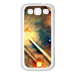Light Space Samsung Galaxy S3 Back Case (white) by DeneWestUK