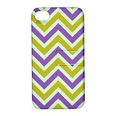 Zig Zags Pattern Apple Iphone 4/4s Hardshell Case With Stand