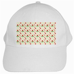 Flower Floral Sunflower Rose Star Red Green White Cap by Mariart