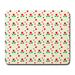 Flower Floral Sunflower Rose Star Red Green Large Mousepads by Mariart