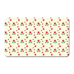 Flower Floral Sunflower Rose Star Red Green Magnet (rectangular) by Mariart
