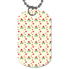Flower Floral Sunflower Rose Star Red Green Dog Tag (two Sides) by Mariart