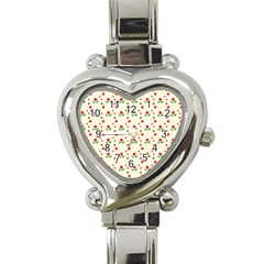 Flower Floral Sunflower Rose Star Red Green Heart Italian Charm Watch by Mariart