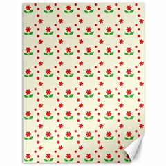 Flower Floral Sunflower Rose Star Red Green Canvas 36  X 48   by Mariart