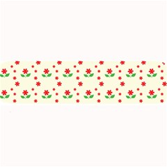 Flower Floral Sunflower Rose Star Red Green Large Bar Mats by Mariart