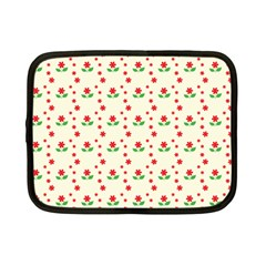Flower Floral Sunflower Rose Star Red Green Netbook Case (small)  by Mariart