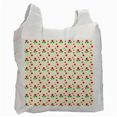 Flower Floral Sunflower Rose Star Red Green Recycle Bag (two Side)  by Mariart