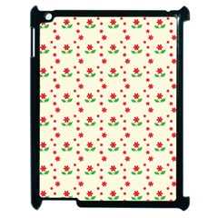 Flower Floral Sunflower Rose Star Red Green Apple Ipad 2 Case (black) by Mariart