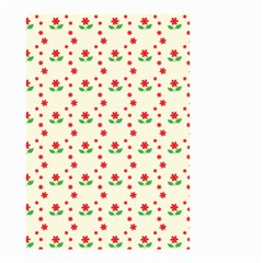 Flower Floral Sunflower Rose Star Red Green Small Garden Flag (two Sides) by Mariart