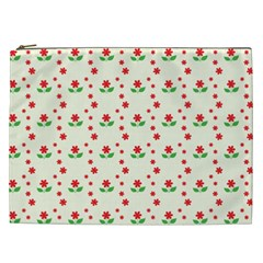 Flower Floral Sunflower Rose Star Red Green Cosmetic Bag (xxl)  by Mariart