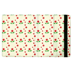 Flower Floral Sunflower Rose Star Red Green Apple Ipad 3/4 Flip Case by Mariart