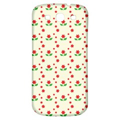 Flower Floral Sunflower Rose Star Red Green Samsung Galaxy S3 S Iii Classic Hardshell Back Case by Mariart