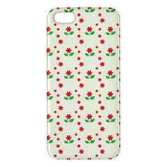 Flower Floral Sunflower Rose Star Red Green Apple Iphone 5 Premium Hardshell Case by Mariart