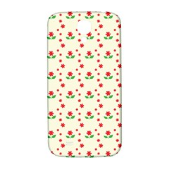 Flower Floral Sunflower Rose Star Red Green Samsung Galaxy S4 I9500/i9505  Hardshell Back Case by Mariart