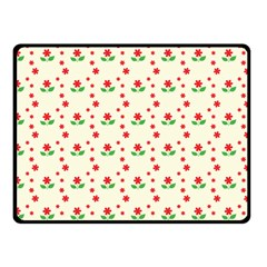 Flower Floral Sunflower Rose Star Red Green Double Sided Fleece Blanket (small)  by Mariart