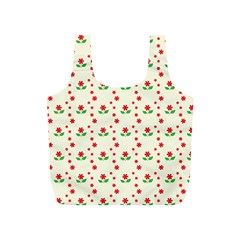 Flower Floral Sunflower Rose Star Red Green Full Print Recycle Bags (s)  by Mariart