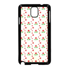 Flower Floral Sunflower Rose Star Red Green Samsung Galaxy Note 3 Neo Hardshell Case (black) by Mariart