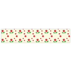Flower Floral Sunflower Rose Star Red Green Flano Scarf (small) by Mariart
