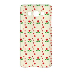 Flower Floral Sunflower Rose Star Red Green Samsung Galaxy A5 Hardshell Case  by Mariart