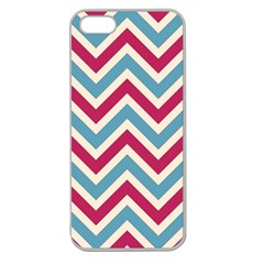 Zig Zags Pattern Apple Seamless Iphone 5 Case (clear) by Valentinaart