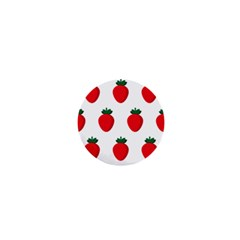 Fruit Strawberries Red Green 1  Mini Buttons by Mariart