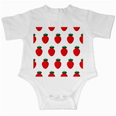Fruit Strawberries Red Green Infant Creepers by Mariart