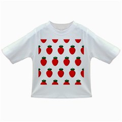 Fruit Strawberries Red Green Infant/toddler T Shirts by Mariart