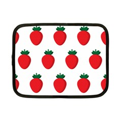 Fruit Strawberries Red Green Netbook Case (small)  by Mariart