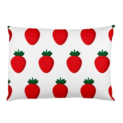 Fruit Strawberries Red Green Pillow Case by Mariart