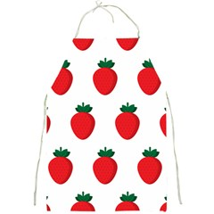 Fruit Strawberries Red Green Full Print Aprons by Mariart