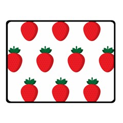 Fruit Strawberries Red Green Fleece Blanket (small) by Mariart