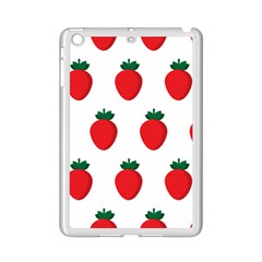 Fruit Strawberries Red Green Ipad Mini 2 Enamel Coated Cases by Mariart