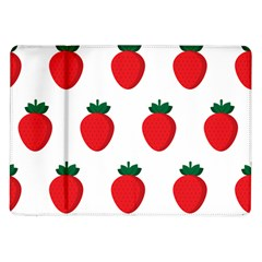 Fruit Strawberries Red Green Samsung Galaxy Tab 10 1  P7500 Flip Case by Mariart