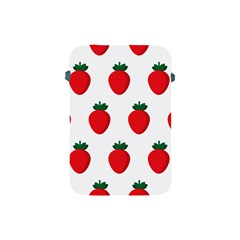 Fruit Strawberries Red Green Apple Ipad Mini Protective Soft Cases by Mariart