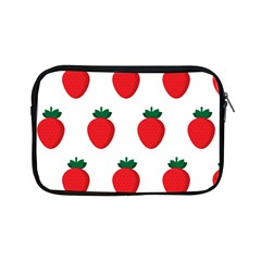 Fruit Strawberries Red Green Apple Ipad Mini Zipper Cases by Mariart