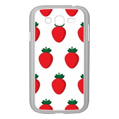 Fruit Strawberries Red Green Samsung Galaxy Grand Duos I9082 Case (white) by Mariart