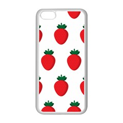 Fruit Strawberries Red Green Apple Iphone 5c Seamless Case (white)