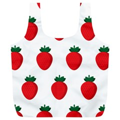 Fruit Strawberries Red Green Full Print Recycle Bags (l)  by Mariart