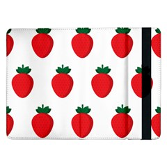 Fruit Strawberries Red Green Samsung Galaxy Tab Pro 12 2  Flip Case by Mariart