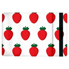 Fruit Strawberries Red Green Ipad Air Flip by Mariart