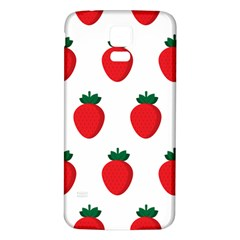Fruit Strawberries Red Green Samsung Galaxy S5 Back Case (white) by Mariart