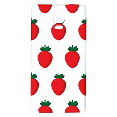 Fruit Strawberries Red Green Galaxy Note 4 Back Case by Mariart