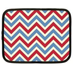 Zig Zags Pattern Netbook Case (xl)  by Valentinaart