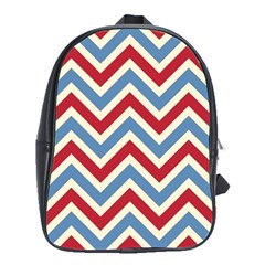 Zig Zags Pattern School Bags(large)  by Valentinaart