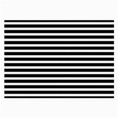 Horizontal Stripes Black Large Glasses Cloth by Mariart