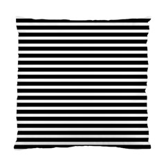 Horizontal Stripes Black Standard Cushion Case (one Side) by Mariart