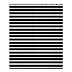 Horizontal Stripes Black Shower Curtain 60  X 72  (medium)  by Mariart