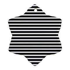 Horizontal Stripes Black Snowflake Ornament (two Sides) by Mariart