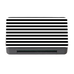 Horizontal Stripes Black Memory Card Reader With Cf by Mariart